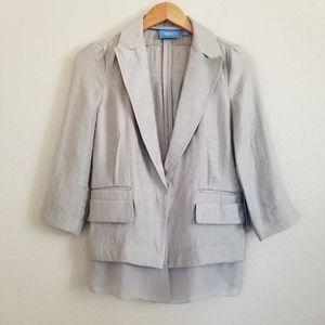 NWT Simply Vera Wang Chiffon Blazer Jacket